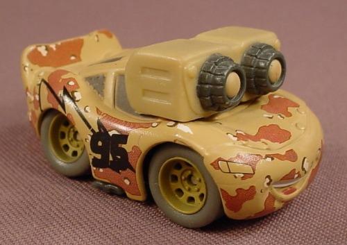 Disney Pixar Cars Movie Mini Adventures Boot Camp Night Vision Camo Lightning McQueen Car