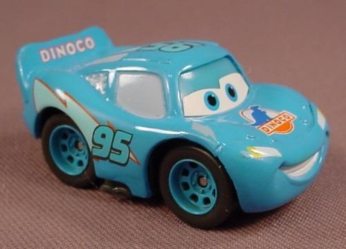 Disney Pixar Cars Movie Mini Adventures Dinoco Dream Lightning McQueen Car, 2 Inches Long, #M1897