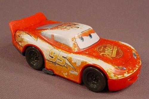 Disney Pixar Cars Movie Lightning McQueen Wheelie Car (B), 4 Inches Long, 2006 McDonalds