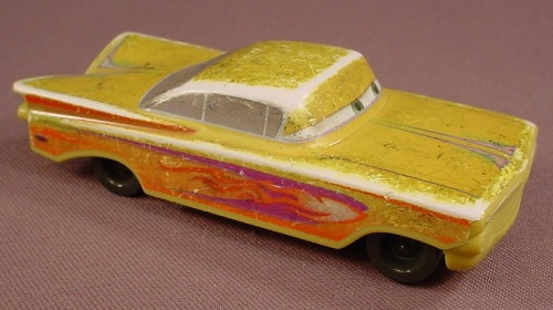 Disney Pixar Cars Movie Yellow Ramone Wind Up Car, 4 Inches Long, 2006 McDonalds