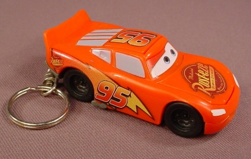 Disney Pixar Cars Movie Lightning McQueen Keychain Car, 3 Inches Long, Key Chain