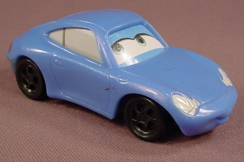 Disney Pixar Cars Movie Sally Car With Eyes To The Right, 3 3/4 Inches Long, 2006 McDonalds