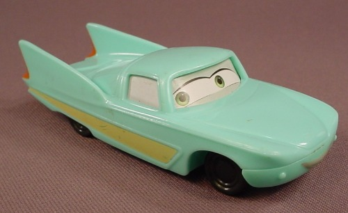 Disney Pixar Cars Movie Flo Car With Eyes To The Right, 4 1/4 Inches Long, 2006 McDonalds