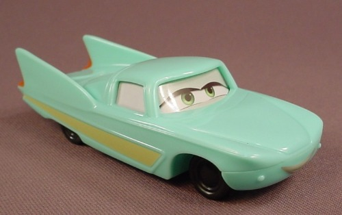 Disney Pixar Cars Movie Flo Car With Eyes In The Center, 4 1/4 Inches Long, 2006 McDonalds