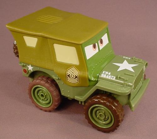 Disney Pixar Cars Movie Talking Shake-N-Go Sarge Jeep, Mattel, 5 3/4 Inches Long, Shake It Let It Go
