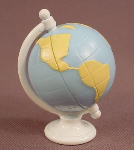 Barbie Spinning Earth Globe Teacher Or Classroom Accessory, 2 Inches Tall