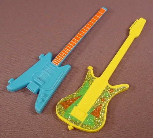 Barbie Lot Of 2 Guitars, They Don't Have Straps