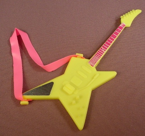 Barbie Rockers Gem Electric Guitar With A Pink Strap, Mattel