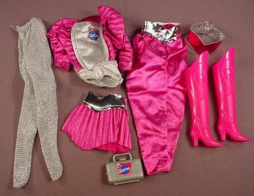 Barbie 1985 Astronaut Barbie Outfit, Bodysuit Pants Skirt Belt Tights Boots & Case, Mattel