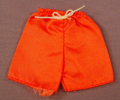 Barbie Red Shorts With A Rope Draw String From A #2877 Set, Mattel, Has The Pink B Tag