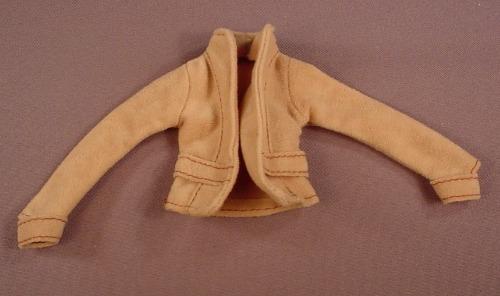 Barbie Brown Tan Suede Jacket, My Scene Chelsea B3299 Set, Mattel, Has The Pink B Tag
