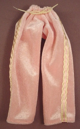 Barbie Pink Pajamas Bottom Or Pants With Gold & Yellow Trim, Mattel, Has The Pink B Tag