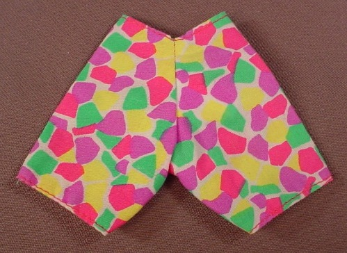 Barbie Multi Colored Print Pair Of Shorts, Mattel, Has The Pink B Tag