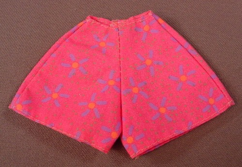 Barbie Pink Pair Of Shorts With A Purple Stars Print, Mattel, Has The Pink B Tag