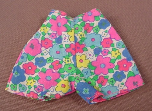 Barbie Multi Colored Floral Pair Of Shorts, Mattel, Has The Pink B Tag