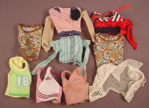 Barbie My Scene Lot Of 9 Blouses Shirts Or Tops, Halter Tops, Mattel