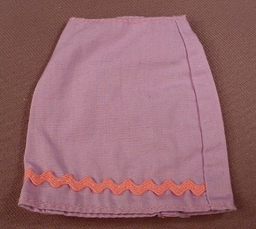 Barbie Light Purple Mid Length Skirt With Pink Zig Zag Trim On The Bottom, Mattel, Has Pink B Tag