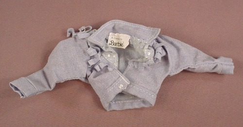 Barbie 1987 Jeans Looks Fashions #4329 Denim Jacket With Fringes, Mattel, Has The Black Barbie Tag