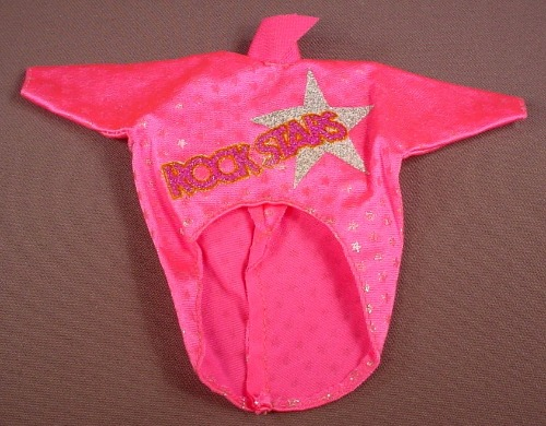 Barbie Pink Rock Stars Shirt With Tails & A Silver Star, Mattel