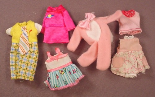 Barbie Kelly 6 Piece Lot Of Clothes, Mattel, Have The Genuine Barbie Tags