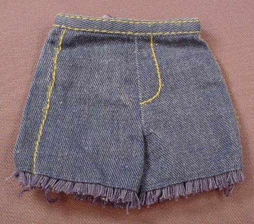 Barbie Ken Pair Of Denim Or Jeans Cut Offs Shorts, Mattel, Has The Pink B Tag