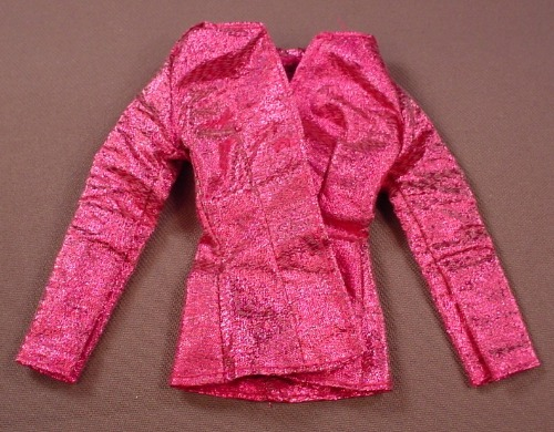 Barbie Glittery Hot Pink Jacket Or Coat, Mattel, Has The Pink B Tag