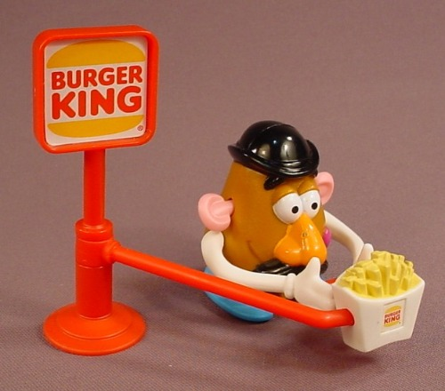 Disney Toy Story Wind Up  Mr Potato Head Figure Toy That Walks Around A Burger King Sign
