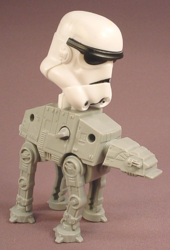 Star Wars Wind Up AT-AT With Driver Bobblehead Toy, 5 3/4 Inches Tall, 2008 McDonalds