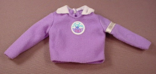 Barbie Purple Sweater Shirt With A Ski Logo, Has The Pink B Tag, Mattel