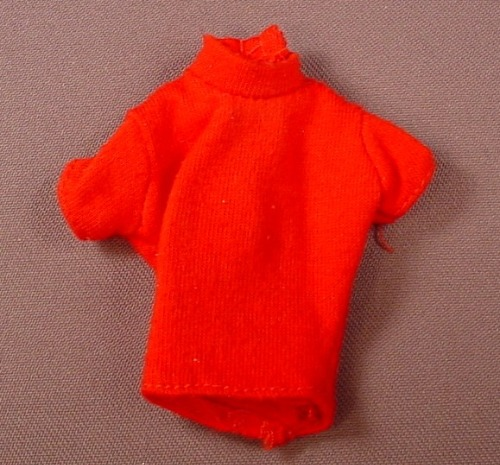 Barbie Red Turtle Neck Short Sleeve Sweater, Has The Pink B Tag, Mattel