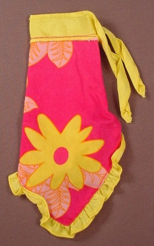 Barbie Pink & Yellow Sarong Style Skirt Or Dress With A Sunflower Print, Has The Pink B Tag, Mattel