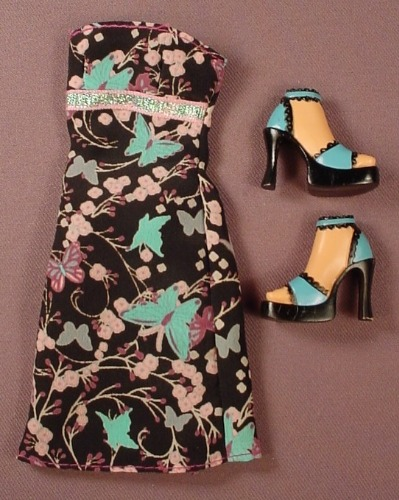 Barbie My Scene Goes Hollywood Dress & Shoes Or Feet, Mattel