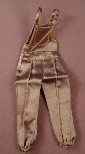 Barbie My Fashion Scene Bib Pants, C0856, Brown Jumpsuit Or Overalls, 2003 Mattel