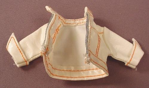 Barbie My Scene White Faux Leather Jacket For A Roller Girls Kennedy, Mattel