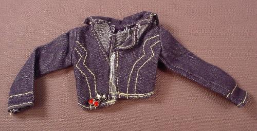 Barbie My Design Scene Denim Jacket With Silver Trim, H4043, Assortment H4042, Mattel