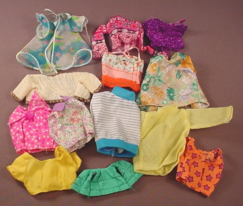 Barbie Doll Size 13 Piece Lot Of Shirts Tops Blouses