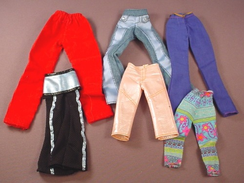 Barbie Doll Size 6 Piece Lot Of Pants & Jeans