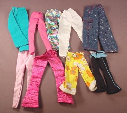 Barbie Doll Size 9 Piece Lot Of Pants & Jeans