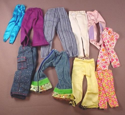 Barbie Doll Size 10 Piece Lot Of Pants & Jeans