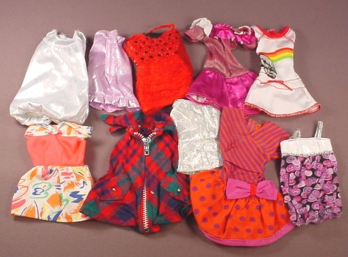 Barbie Doll Size 10 Piece Lot Of Short Dresses