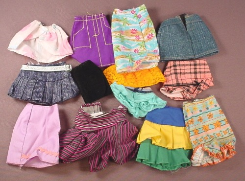 Barbie Doll Size 13 Piece Lot Of Skirts