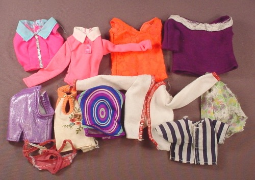 Barbie Doll Size 11 Piece Lot Of Shirts Tops Blouses