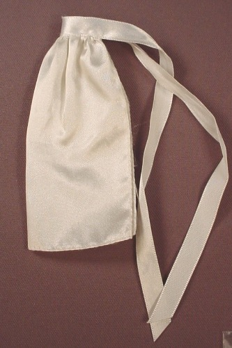 Barbie Doll Size White Apron With Ties