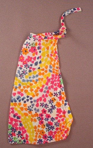 Barbie Doll Size Sarong Style Skirt With Multi Color Print