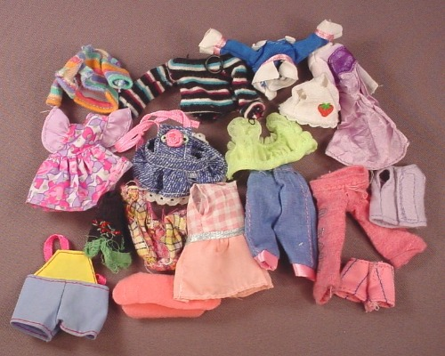 Barbie 17 Piece Lot Of Kelly Size Clothes, No Tags