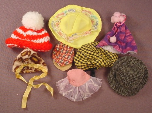 Barbie Doll Size 8 Piece Lot Of Hats