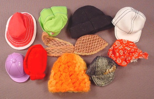 Barbie Doll Size 9 Piece Lot Of Hats