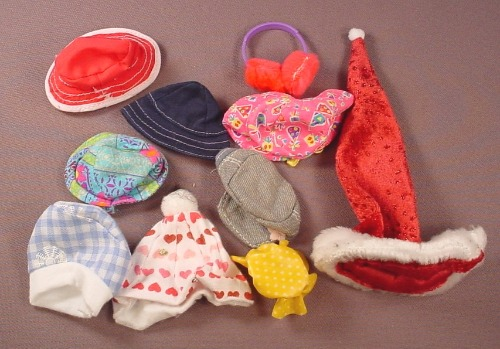 Barbie Doll Size 10 Piece Lot Of Hats