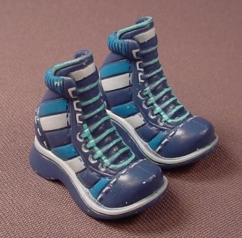 Barbie My Scene Pair Of Navy Blue Sneakers Or Runners, Slotted Back