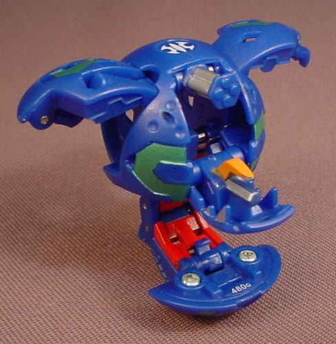 Bakugan Battle Brawlers Spindle Blue Aquos, 480G, Sega, Spin Master